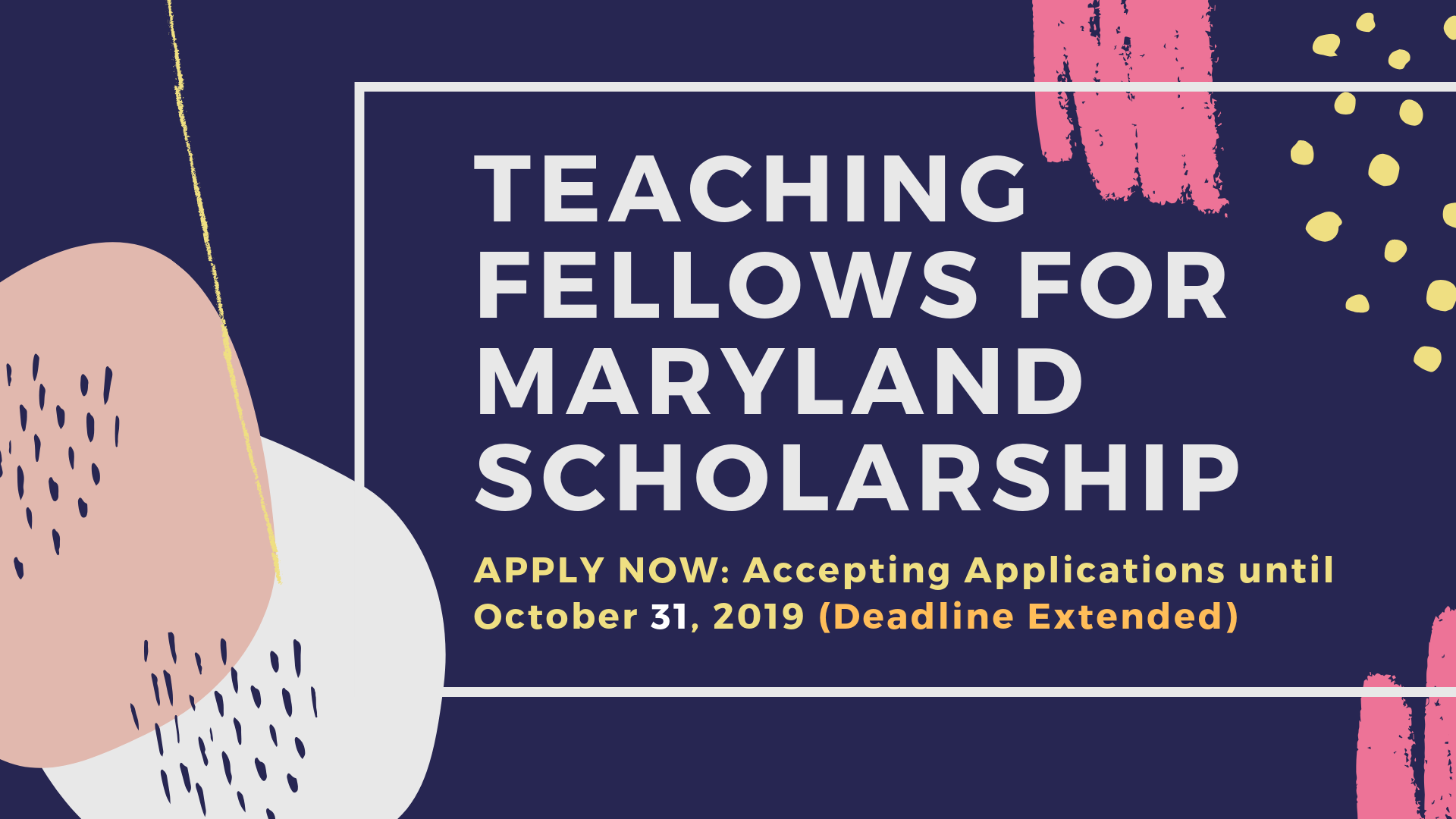 New MD State Scholarship Available Apply Now! - Deadline EXTENDED!